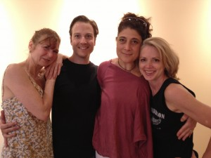 Ruby Aver, Ian Spencer Bell, Bettina Montano and me
